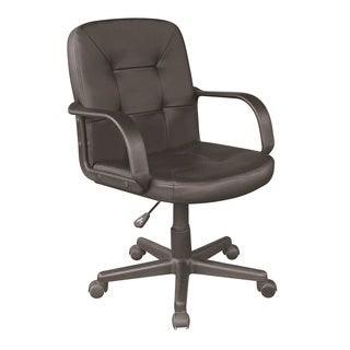 Comfort Products 60-2380 PU Black Mid-back Office Chair