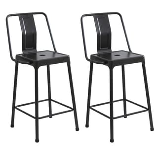 Lumisource Energy Metal Industrial-style Barstools