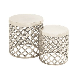 Simply Stylish Aluminumn Stool (Set Of 2)