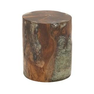 Natural Wood Teak Resin Foot Stool