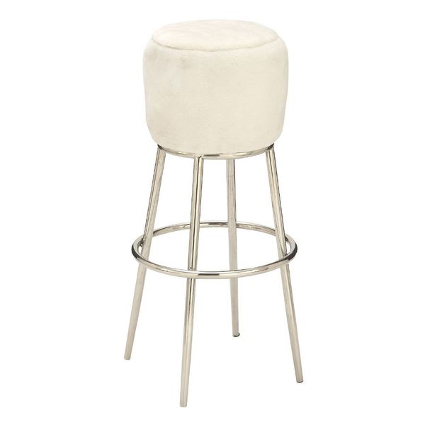 Fashionable Ss Wool White Stool