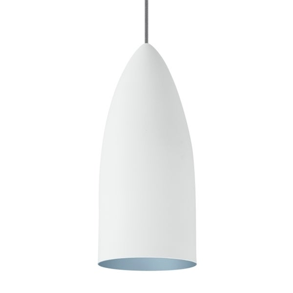 LBL Signal Rubberized White Exterior with Blue Interior CF Pendant