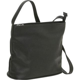 LeDonne Zip-top Leather Shoulder Bag