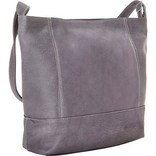 LeDonne Women's Full-grain Cowhide Leather Everyday Shoulder Bag
