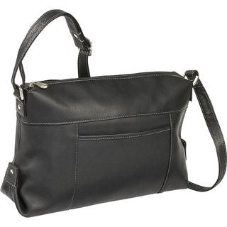 LeDonne Leather Top Zip Front Slip Shoulder Bag
