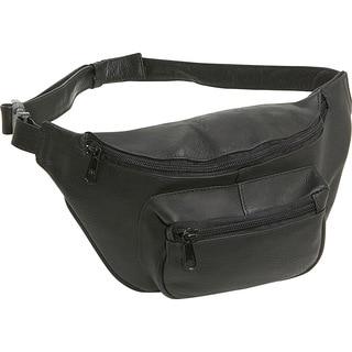 LeDonne Black Leather Fanny Pack