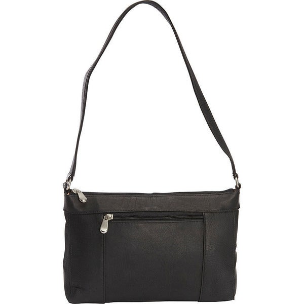 LeDonne Ava Black/Tan/Brown Leather Shoulder Bag