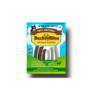 BuckeyBites One-pound Standard-grade Assorted Sticks And Splits Antler Pack