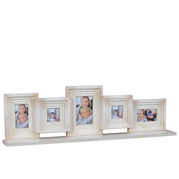 Pristine White Decorative Wooden Multi Photo Frame