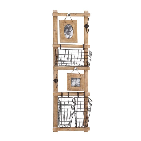 The Multipurpose Wood Metal Wall Strong Rack