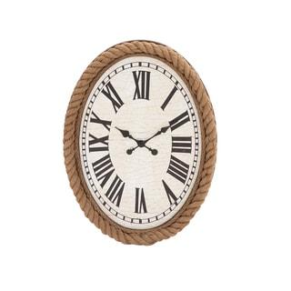 Fascinating Styled Wood Rowall Clock