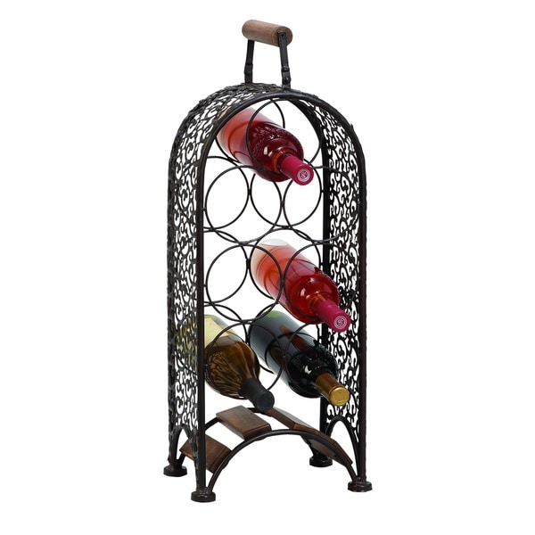 Metal Wine Rack Make Your Bar Area More Inviting