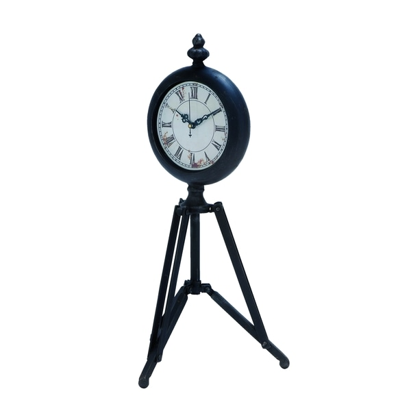 Metal Tripod Clock With Tripod Stand