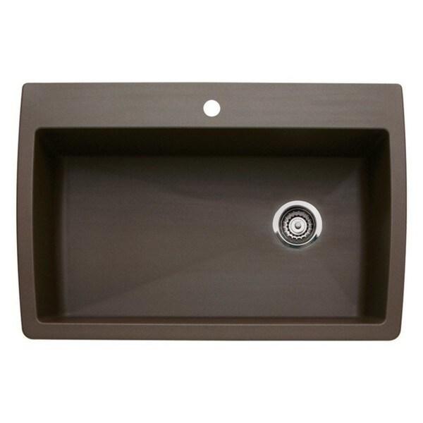 Blanco Diamond Super Caf Brown Granite Single Bowl Kitchen Sink