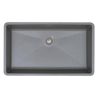 Blanco Prcis Super Metallic Gray Single Bowl Sink