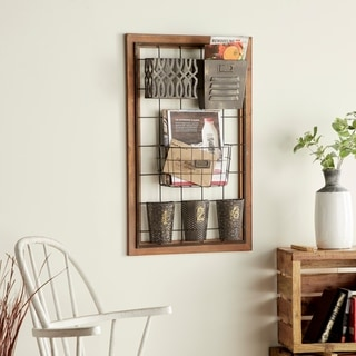 Metal Wood Wall Storage For Home Decor