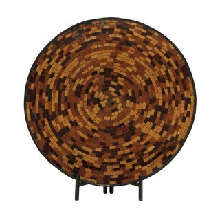 Alluring Metal Mosaic Platter with Easel