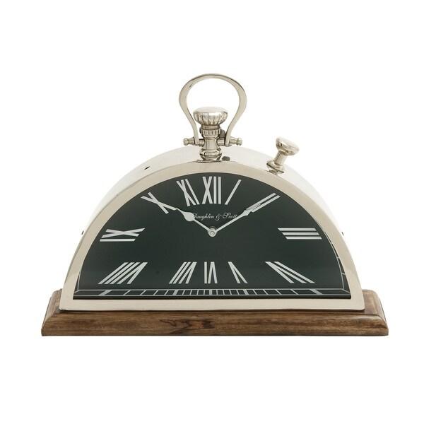Eccentric Steel Wood Table Clock