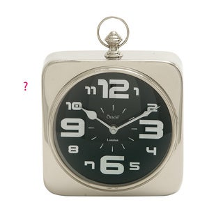 Contemporary Styled Steel Table Clock