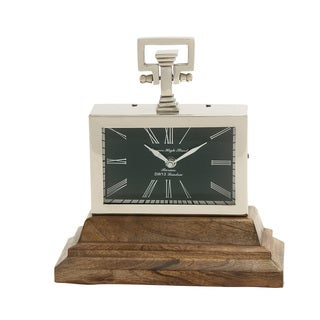 Astounding Steel Wood Table Clock