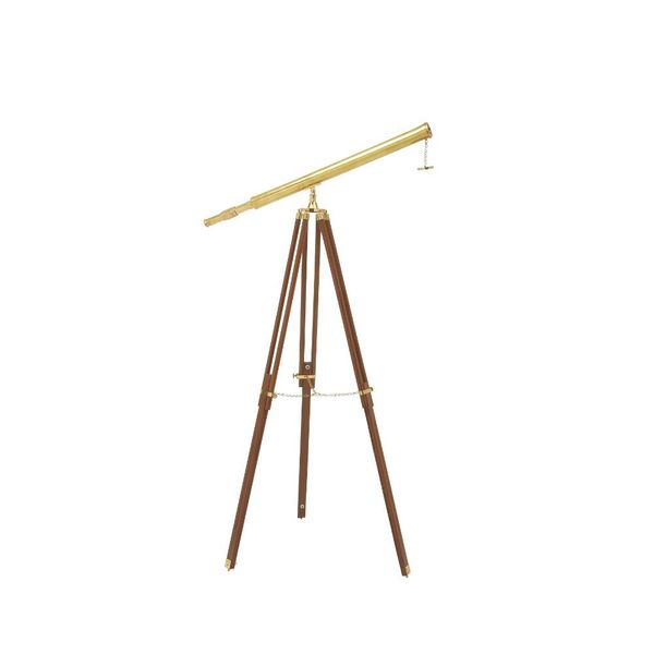 Useful Wood Brass Telescope