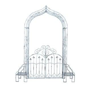 Sturdy Metal Garden Gate In Black Finish