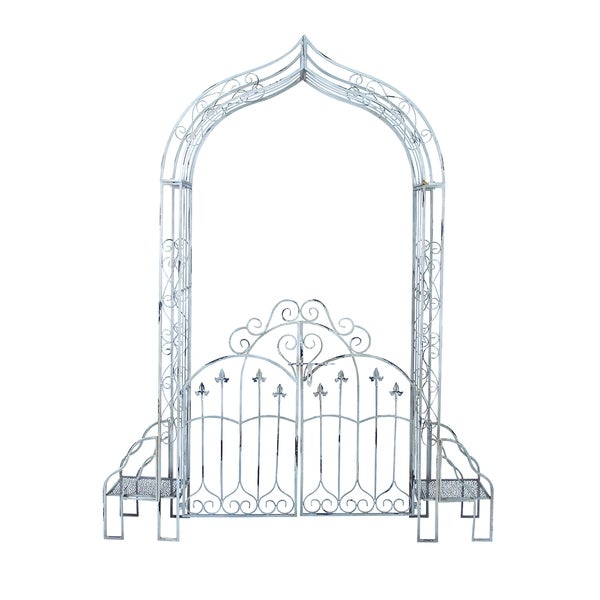 Sturdy Metal Garden Gate In Black Finish