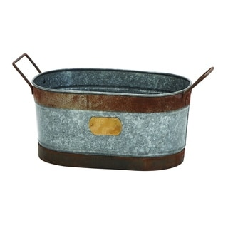 Party Metal Ice Bucket 18 inches wide x 9 inches high