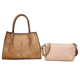 MKF Collection Caren 2-in-1 Satchel with Removable Inner Pouch