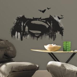 Batman versus Superman Logo Peel-and-Stick Giant Wall Decal