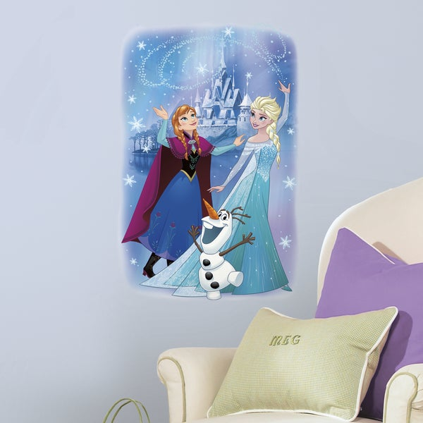 Frozen Magic Peel and Stick Blue, Purple, Green, and White Giant Wall Graphic