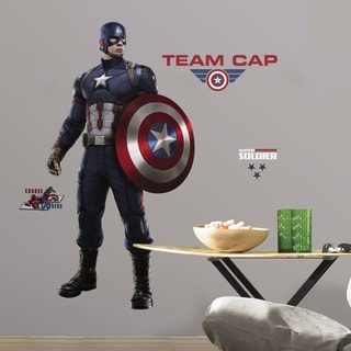 Captain America Civil War Peel and Stick Giant Wall Decals
