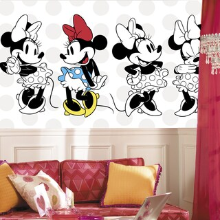 Minnie Rocks the Dots Extra-large 6' x 10.5' Ultra-strippable Chair Rail Prepasted Mural