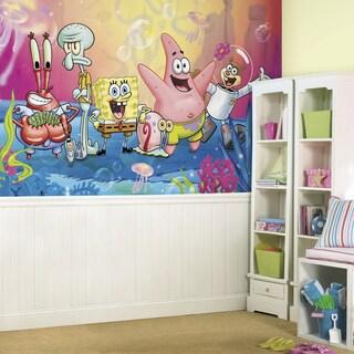 SpongeBob Squarepants XL Prepasted 6-foot x 10.5-foot Ultra-strippable Chair Rail Mural