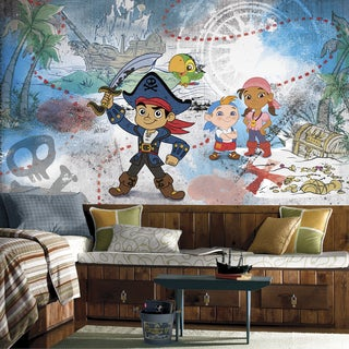 Captain Jake and the Never Land Pirates 6-feet x 10.5-feet Ultra-strippable XL Chair Rail Prepasted Mural