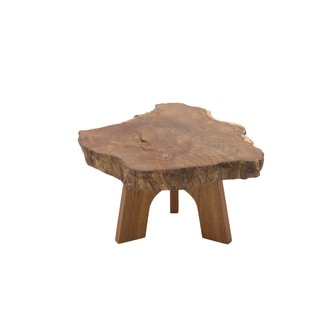 Nature Themed Wooden Table Stand 14 inches wide x 7 inches high