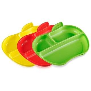 Munchkin Lil' Apple Plastic 3-pack Plates