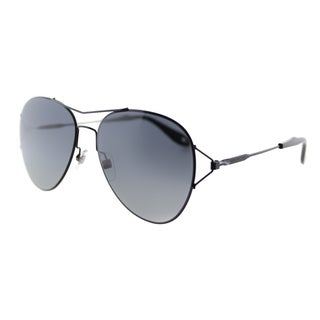 Givenchy GV 7005 006 Shiny Black Metal Aviator Grey Gradient Lens Sunglasses