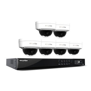 LaView 1080p IP NVR 8 CH 2TB HDD Video Security Surveillance System W 6 PoE 1080p IP Dome Cameras, Remote View and Night Vision