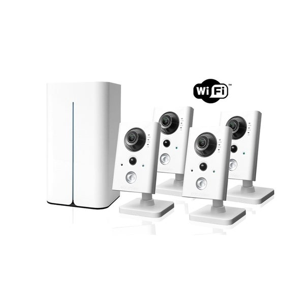LaView 1080p 1TB Hard Drive Video Security Surveillance System with 4 Wi-Fi and Night Vision Cameras