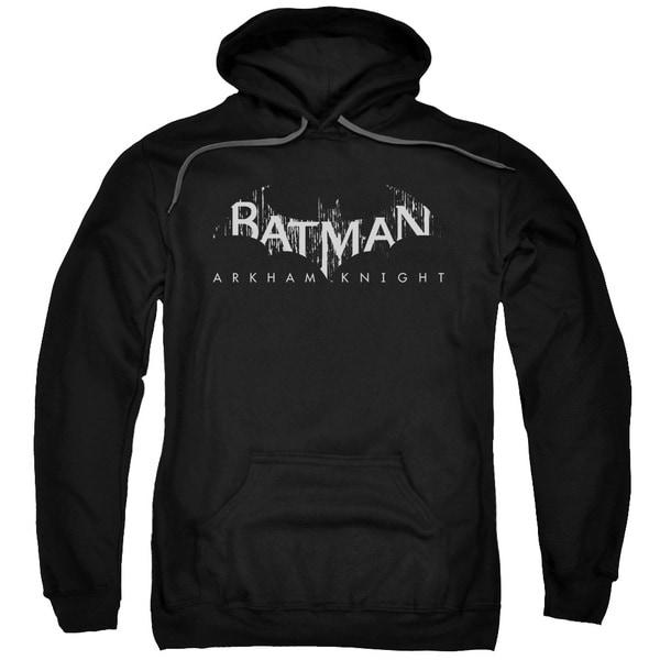 Adult's Black Cotton/Polyester Batman Arkham Knight/Ak Splinter Logo Pull-over Hoodie