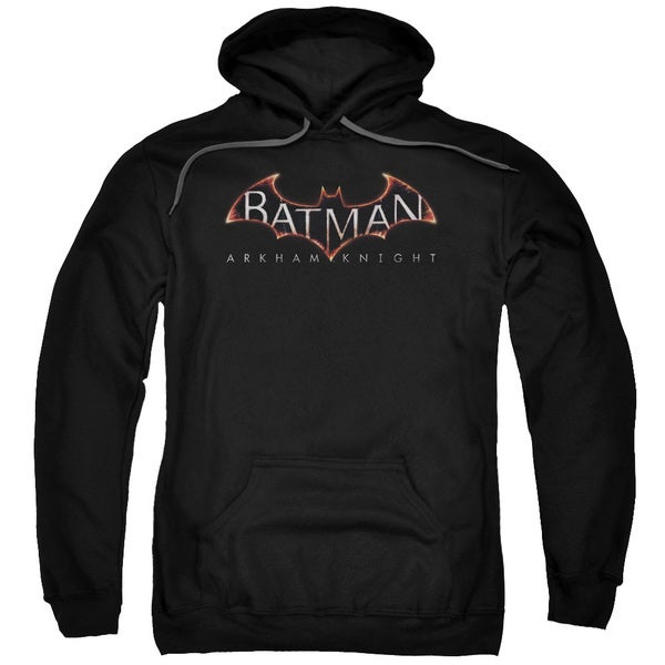 Batman Arkham Knight/Logo Adult Pullover Hoodie in Black