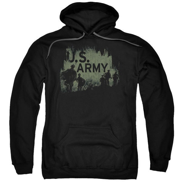 U.S. Army/Soilders Black Cotton-blended Adult Pull-over Hoodie 18643397