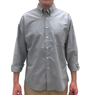 Bills Khakis Men's Standard Issue Solid Blue, Red or Grey Cotton Long-sleeve Button-down Shirt