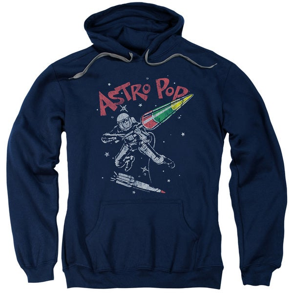 Astro Pop/Space Joust Adult Navy Pull-over Hoodie