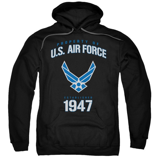 Air Force/Property Of Black Adult Pullover Hoodie