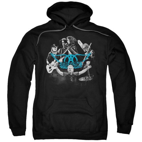 Black Aerosmith/Rock N Round Pullover Hoodie