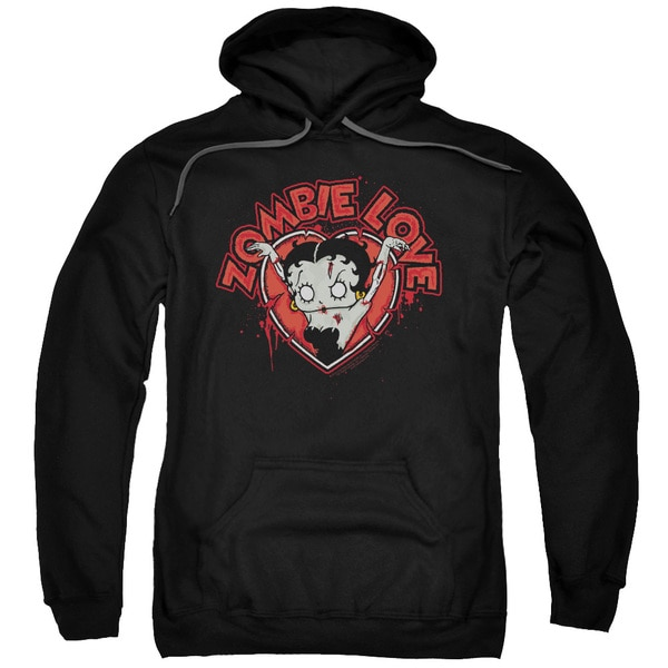 Betty Boop/Heart You Forever Adult Black Pullover Hoodie