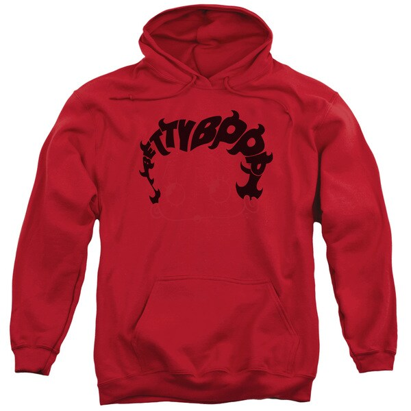 Adult Red Betty Boop Pullover Hoodie