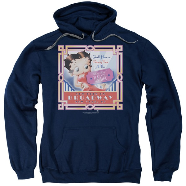 Boop/On Broadway Adult Pull-Over Hoodie in Navy